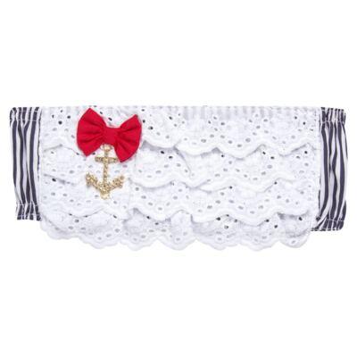 Imagem 2 do produto Conjunto de banho Sailor: Biquini + Chapéu - Roana - BSTR0901008 Banho de Sol c/ Top Marinho Âncora-M