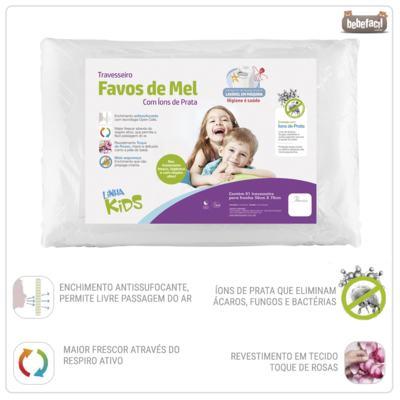 Imagem 2 do produto Travesseiro Favos de Mel Kids Antissufocante - Fibrasca