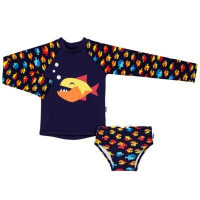 Imagem 1 do produto Conjunto de banho Piranha: Camiseta + Sunga - Puket - KIT PK PIRANHA Camiseta + Sunga Piranha Puket-2