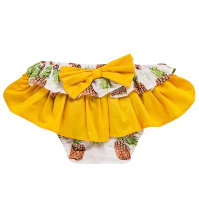 Imagem 2 do produto Conjunto de banho Pineapple: Bumbum + Faixa de Cabelo - Roana - BAST0904013 BANHO DE SOL TURBANTE 124 AMARELO-G