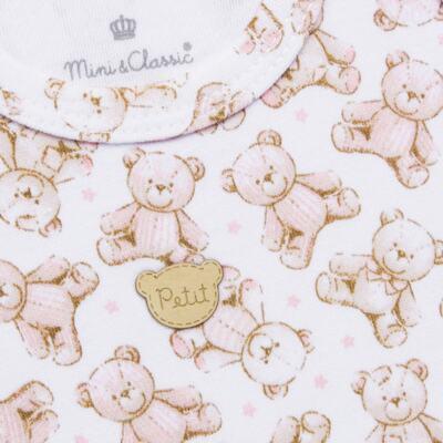 Imagem 3 do produto Regata com Cobre fralda para bebe em algodão egípcio c/ jato de cerâmica Princess Bear - Mini & Classic - CJRR655 REGATA C/ COBRE FRALDAS SUEDINE URSA-M