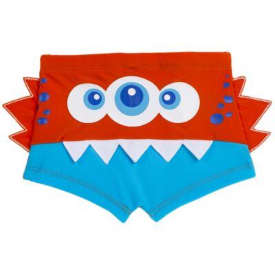 Imagem 1 do produto Sunga boxer para bebe em lycra Monster - Cara de Criança - SBB2533 MONSTRO SBB SUNGA BOXER BEBE LYCRA-2