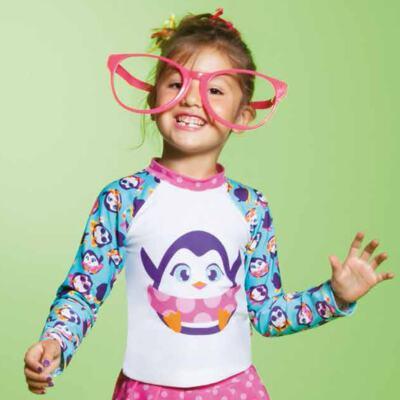 Imagem 6 do produto Conjunto de banho Pinguim: Camiseta + Maiô - Puket - KIT PK PINGUIM Camiseta + Maio Pinguim Puket-6