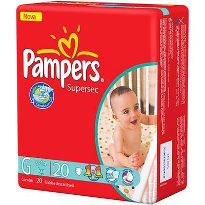 Fralda Pampers - EXG | 20 unidades