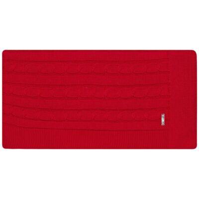 Imagem 3 do produto Manta em tricot Vermelha - Baby Classic - 591177 MANTA TRICO ROSES