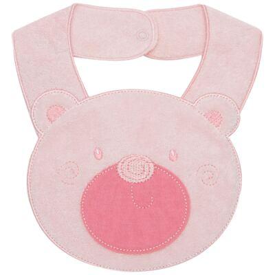 Imagem 1 do produto Babador para bebe atoalhado Faces Ursinha - Mini Mix - MXBBI595 BABADOR ATOALHADO URSA