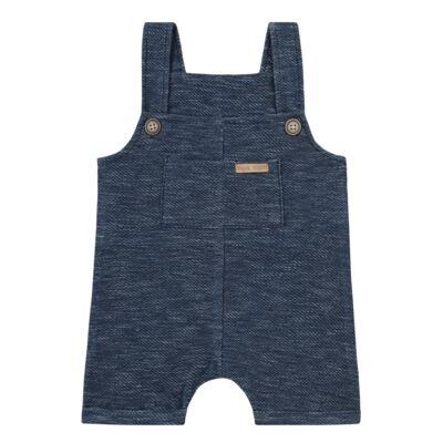 Imagem 1 do produto Jardineira para bebe em fleece Jeans Marinho - Time Kids - TK5116.MR JARDINEIRA JEANS MARINHO-P