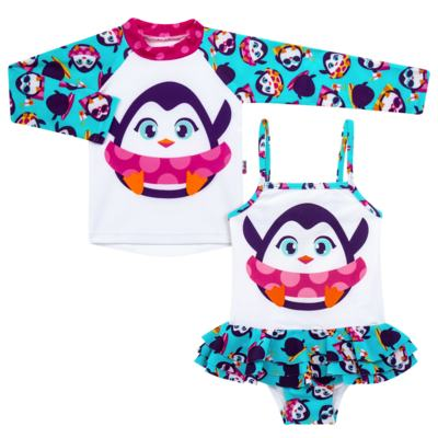 Imagem 1 do produto Conjunto de banho Pinguim: Camiseta + Maiô - Puket - KIT PK PINGUIM Camiseta + Maio Pinguim Puket-8