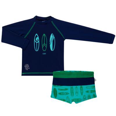Imagem 1 do produto Conjunto de Banho Malibu: Camiseta surfista + Sunga - Cara de Criança - KIT 1 2573: SB2573+CSAL2573 SUNGA E CAMISETA PRANCHAS DE SURF-1