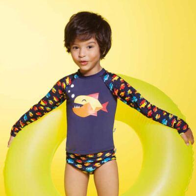 Imagem 5 do produto Conjunto de banho Piranha: Camiseta + Sunga - Puket - KIT PK PIRANHA Camiseta + Sunga Piranha Puket-4
