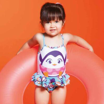 Imagem 7 do produto Conjunto de banho Pinguim: Camiseta + Maiô - Puket - KIT PK PINGUIM Camiseta + Maio Pinguim Puket-6-9