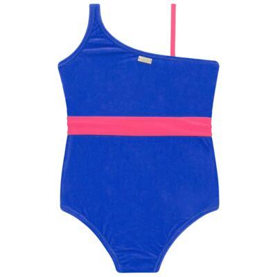 Imagem 3 do produto Maiô em Lycra aveludado Blue & Pink - Cara de Criança - M1274 VEL VET MAIO LYCRA-4