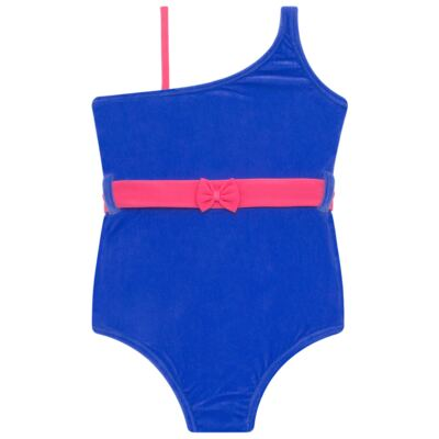 Imagem 2 do produto Maiô em Lycra aveludado Blue & Pink - Cara de Criança - M1274 VEL VET MAIO LYCRA-3