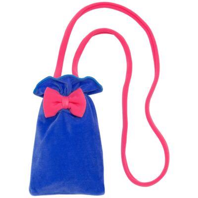 Imagem 4 do produto Maiô em Lycra aveludado Blue & Pink - Cara de Criança - M1274 VEL VET MAIO LYCRA-3