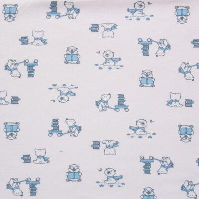 Imagem 2 do produto Manta para bebe em suedine Smart Bear - Dedeka - DDK16569/E110 Manta Dupla Suedine Urso Azul