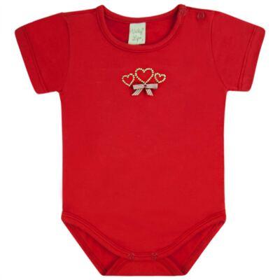 Imagem 1 do produto Body curto para bebe em cotton Coroinhas - Vicky Lipe - 89843 BODY MC FEMININO COTTON COROA-M
