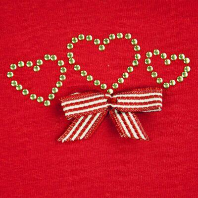 Imagem 2 do produto Body curto para bebe em cotton Coroinhas - Vicky Lipe - 89843 BODY MC FEMININO COTTON COROA-M