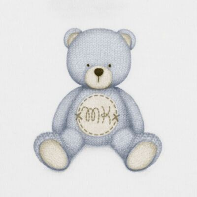 Imagem 2 do produto Body curto para bebe em Pima Cotton Supreme Prime Bear Branco - Mini & Kids - BDMC0001.64 BODY MANGA CURTA - SUEDINE-M