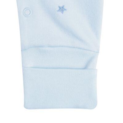 """Imagem 3 do produto Macacão longo c/ abertura """"S"""" para bebe em algodão egípcio Prince Bear - Mini & Classic - 2004656 MACACAO S C/ PE REVERSIVEL SUEDINE URSO-P"""