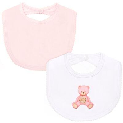 Imagem 1 do produto Pack: 2 babadores em Pima Cotton Supreme Prime Bear Rosa - Mini & Kids - PBAP970 PACK BABADOR SUEDINE ROSA BB