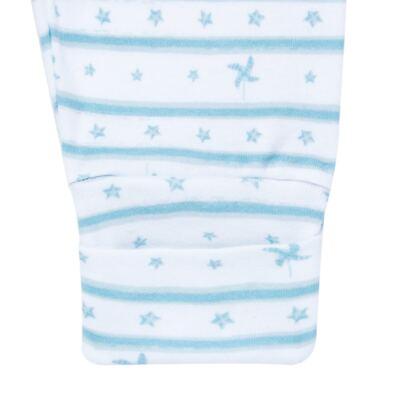 Imagem 4 do produto Body longo com calça para bebe em algodão egípcio c/ jato de cerâmica e filtro solar fps 50  Blue Little Toys - Mini & Kids - CS551.321 CONJ BODY ML C/ MIJAO ESTRELAS AZUL-P