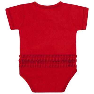 Imagem 4 do produto Body curto para bebe em cotton Coroinhas - Vicky Lipe - 89843 BODY MC FEMININO COTTON COROA-GG