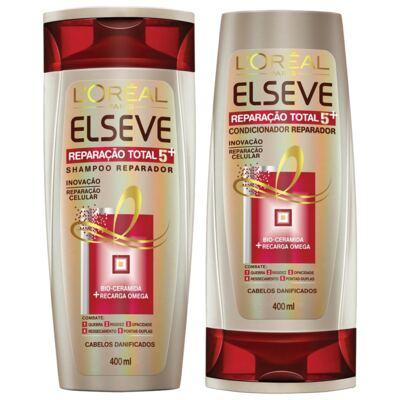 Imagem 1 do produto Kit Elseve Reparação Total 5 Shampoo 400ml + Condicionador 400ml