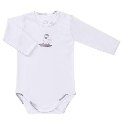 Imagem 2 do produto Body longo c/ Calça para bebe em algodão Wally - Dedeka - DDK16576/E112 Conjunto de Body Ribana Morsa -P