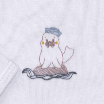 Imagem 3 do produto Body longo c/ Calça para bebe em algodão Wally - Dedeka - DDK16576/E112 Conjunto de Body Ribana Morsa -P