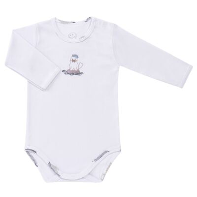 Imagem 2 do produto Body longo c/ Calça para bebe em algodão Wally - Dedeka - DDK16576/E112 Conjunto de Body Ribana Morsa -M