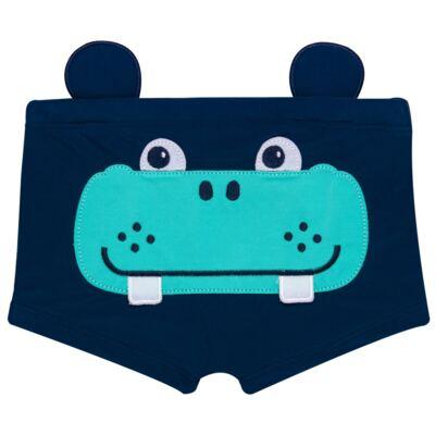 Imagem 1 do produto Sunga Boxer em lycra Hipopótamo - Cara de Criança - SB1926 HIPOPOTAMO SB SUNGA BOXER LYCRA-4