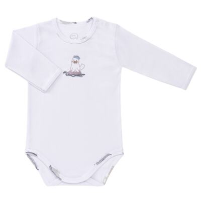 Imagem 2 do produto Body longo c/ Calça para bebe em algodão Wally - Dedeka - DDK16576/E112 Conjunto de Body Ribana Morsa -GG