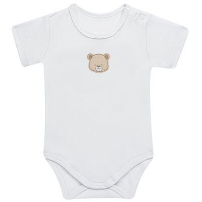 Imagem 2 do produto Pack: 02 Bodies curtos para bebe em algodão egípcio c/ jato de cerâmica Nature Little Friends - Mini & Classic - 1024650 PACK 2 BODIES MC SUEDINE NATURE -RN