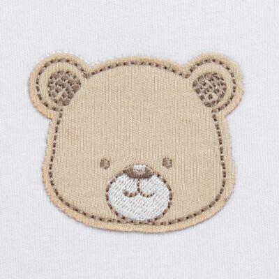 Imagem 3 do produto Pack: 02 Bodies curtos para bebe em algodão egípcio c/ jato de cerâmica Nature Little Friends - Mini & Classic - 1024650 PACK 2 BODIES MC SUEDINE NATURE -RN