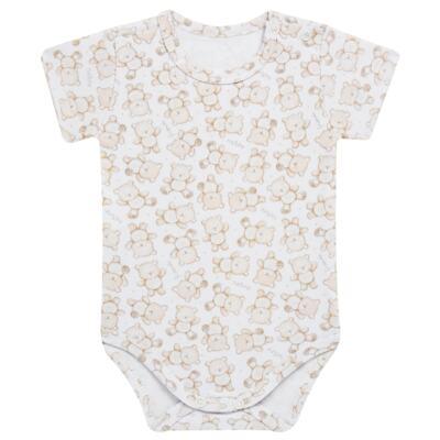 Imagem 4 do produto Pack: 02 Bodies curtos para bebe em algodão egípcio c/ jato de cerâmica Nature Little Friends - Mini & Classic - 1024650 PACK 2 BODIES MC SUEDINE NATURE -RN