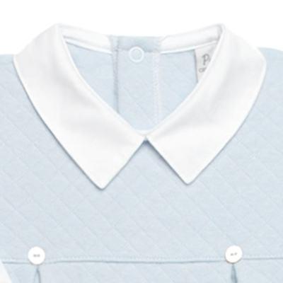 Imagem 2 do produto Macacão longo c/ golinha para bebe em viscomfort Bleu - Petit - 22104345 MACACAO C/ GOLA E PALA MATELASSE OVELHA MASC-RN