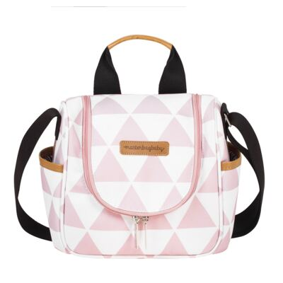 Imagem 4 do produto Mala Maternidade com Rodízio + Bolsa Everyday + Frasqueira térmica Emy Manhattan Rosa - Masterbag