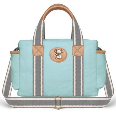 Imagem 4 do produto Bolsa Passeio para bebe + Bolsa Albany + Frasqueira Térmica Gold Coast + Trocador + Porta Mamadeira em sarja Adventure Azul - Classic for Baby Bags