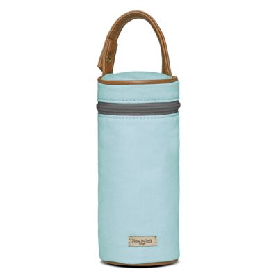 Imagem 6 do produto Bolsa Passeio para bebe + Bolsa Albany + Frasqueira Térmica Gold Coast + Trocador + Porta Mamadeira em sarja Adventure Azul - Classic for Baby Bags