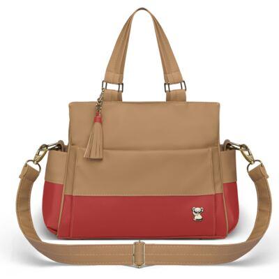 Imagem 2 do produto Bolsa maternidade para bebe Genebra + Frasqueira Térmica Zurique Due Colore Coral - Classic for Baby Bags