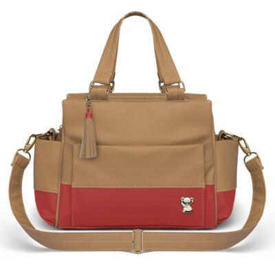 Imagem 3 do produto Bolsa maternidade para bebe Genebra + Frasqueira Térmica Zurique Due Colore Coral - Classic for Baby Bags