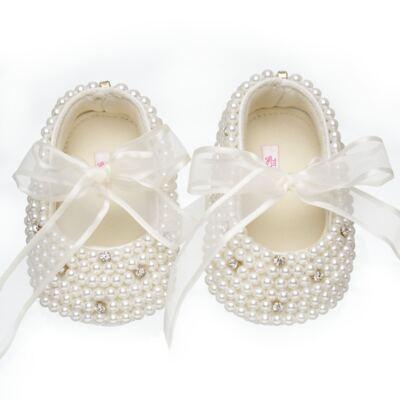 Imagem 1 do produto Sapatilha para bebe em cetim Pérolas & Strass - Roana