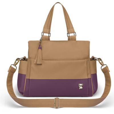 Imagem 3 do produto Mala Maternidade para bebe + Bolsa Genebra + Frasqueira Térmica Zurique Due Colore Uva - Classic for Baby Bags
