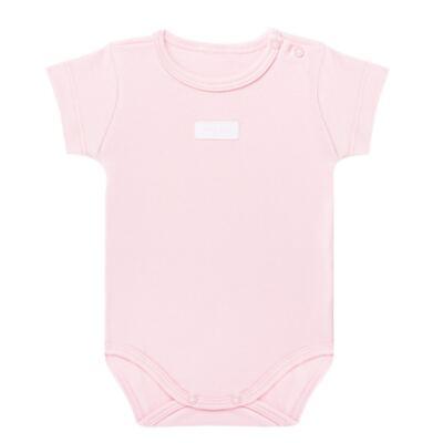 Imagem 1 do produto Body curto para bebe em suedine Rosa - Vicky Lipe - BC235 BODY MC SUEDINE ROSA BB-3