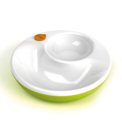 Imagem 3 do produto Copo de transição Antivazamento com alças Verde 250 ml + Prato Térmico + Colher para alimentação Laranja (6m+) - mOmma