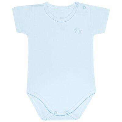 Imagem 1 do produto Body curto para bebe em Pima Cotton Supreme Azul - Mini & Kids - BSM91 BODY MC SUEDINE AZUL BB-P