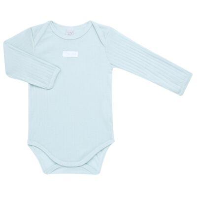 Imagem 2 do produto Body longo com Calça para bebe Sleep Comfort Azul - Vicky Lipe - 182200011.198 BODY M/L TRANS. MIJÃO SUEDINE HC AZUL-P