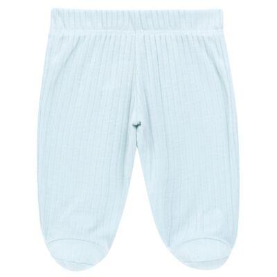 Imagem 4 do produto Body longo com Calça para bebe Sleep Comfort Azul - Vicky Lipe - 182200011.198 BODY M/L TRANS. MIJÃO SUEDINE HC AZUL-P