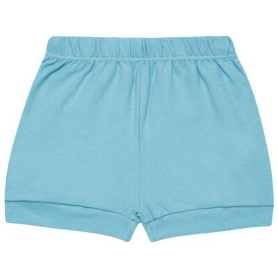 Imagem 4 do produto Body curto com Shorts em algodão egípcio c/ jato de cerâmica e filtro solar fps 50 Little Boat - Mini & Kids - CBS1747 BODY MC SHORTS SUEDINE NAVY-RN
