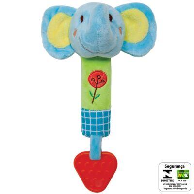 Imagem 2 do produto Buzina & Mordedor Safari Elefantinho (3m+) - Buba - BUBA6095-E BUZINA COM MORDEDOR ELEFANTE